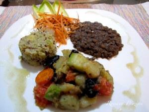 Quinoa com banana e pimenta verde