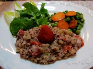 Quinoa com limão e morango